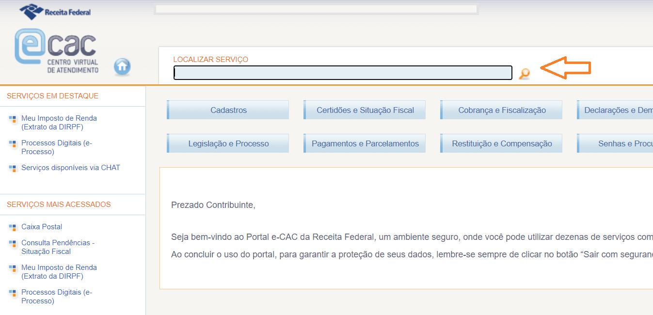 serviços portal e-cac