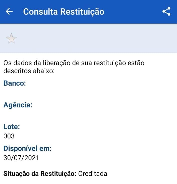 restituição do IR - app Pessoa Física
